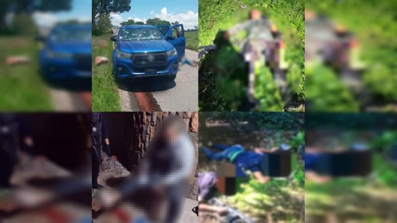 En 15 días, tres ataques contra policías y militares en Michoacán dejan 11 muertos, 2 heridos y 6 detenidos