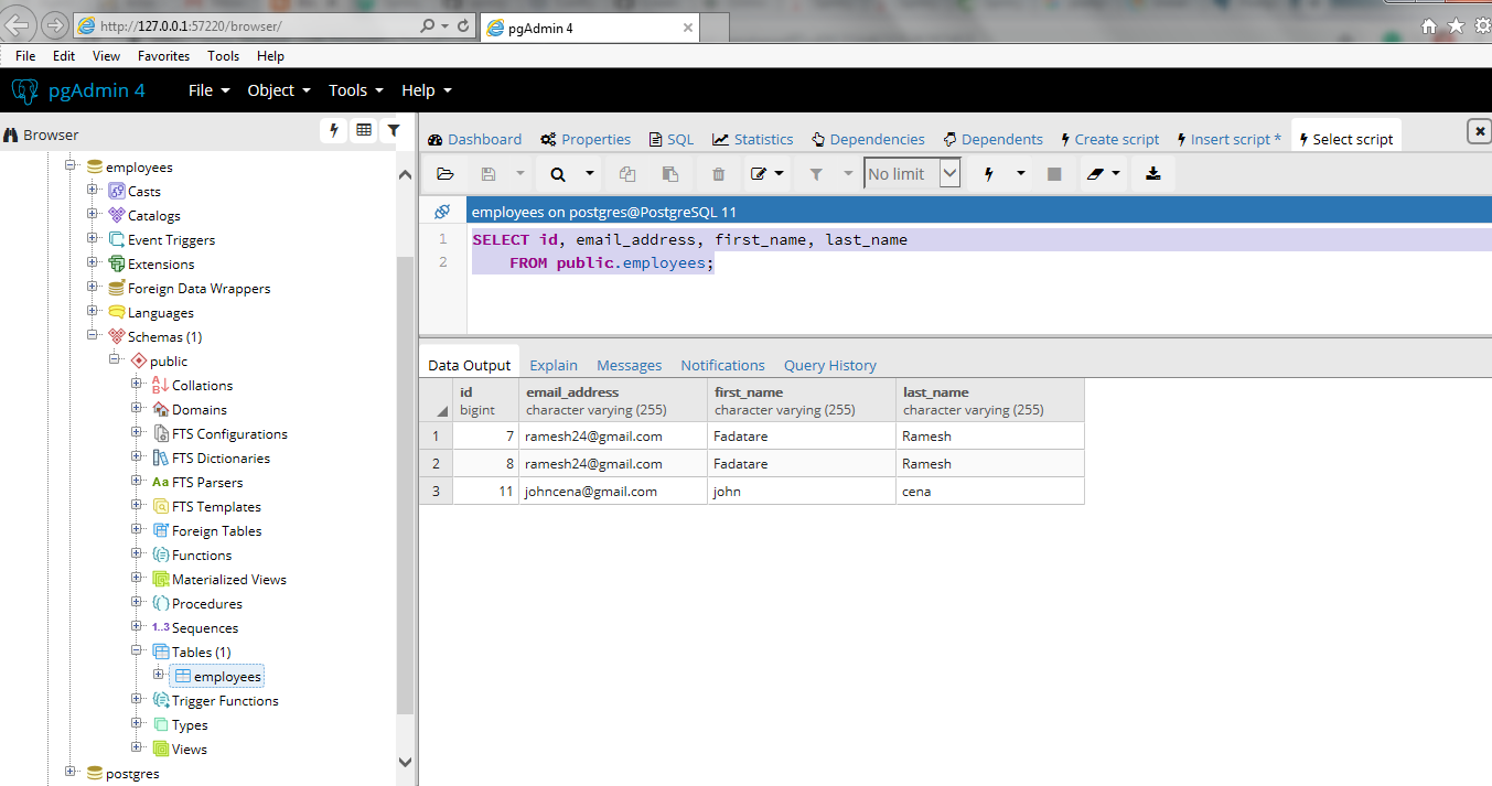 Spring Boot + PostgreSQL + JPA/Hibernate CRUD Restful API Tutorial