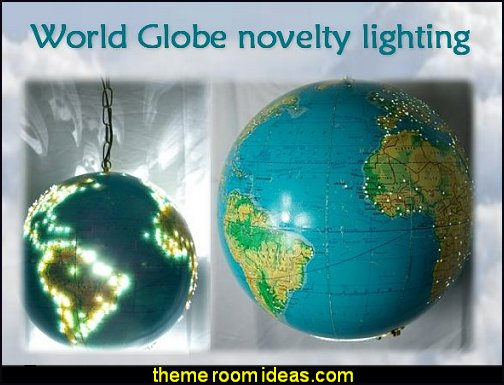 world globe lighting world traveler home decor travel themed furniture travel bedroom decor
