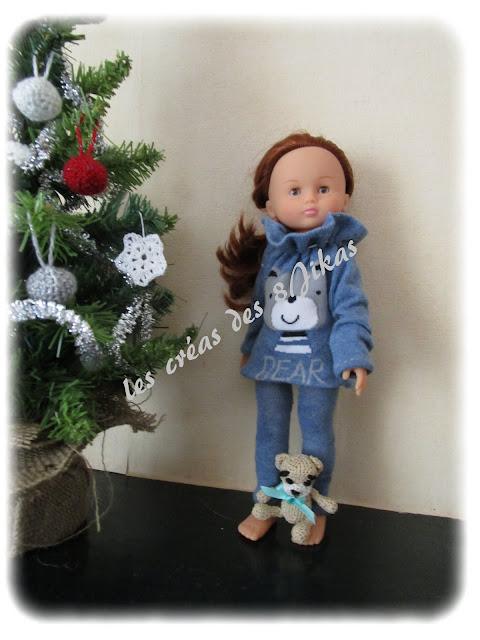 pyjama pour poupée chérie de corolle