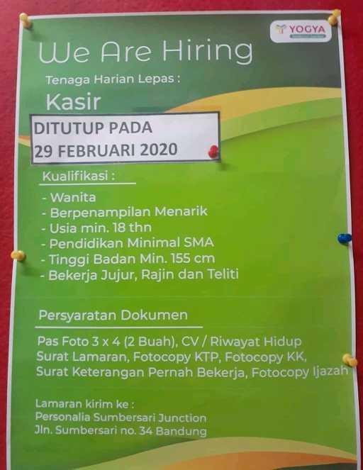 Lowongan Kerja Yogya Group Bandung 2020 Tingkat Sma Smk