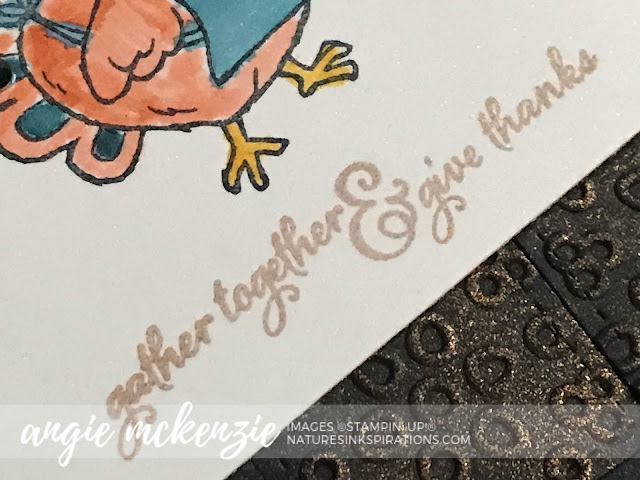 By Angie McKenzie for 3rd Thursdays Blog Hop; Click READ or VISIT to go to my blog for details! Featuring the Birds of a Feather, Gather Together and Painted Harvest Stamp Sets from the Stampin' Up! 2019 Annual Catalog;  #stampinup #thanksgiving #naturesinkspirations #birdsofafeatherstampset #antiquebakingpan #stitchedshapesdies #paintedharveststampset #gathertogetherstampset #eyeletlaceembossingfolder