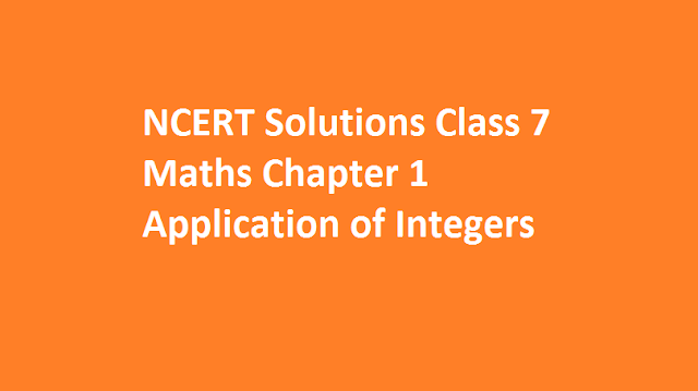 Application of Integers