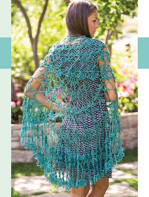 Positively Crochet Parsian Gardens Circular Shawl