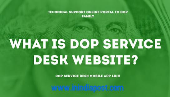 What is DOP service desk website?