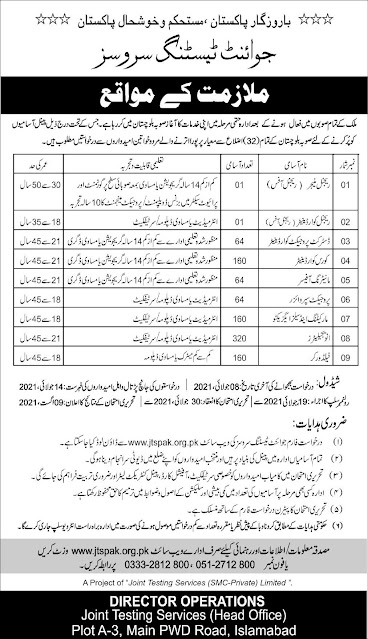 Joint Testing Services (JTS) Jobs 2021