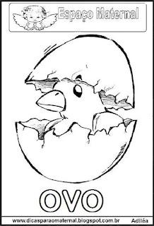 Desenho ovo páscoa para colorir