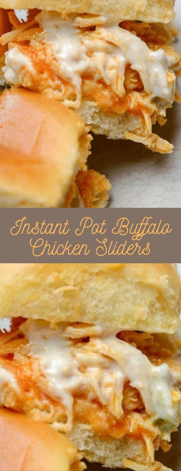 Instant Pot Buffalo Chicken Sliders