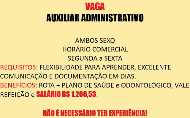 Contrata-se Auxiliar Administrativo - Envie seu currículo