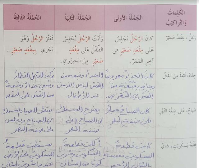 حل درس مراجعة ومدارسة 2 لغة عربية سادس الفصل الثالث