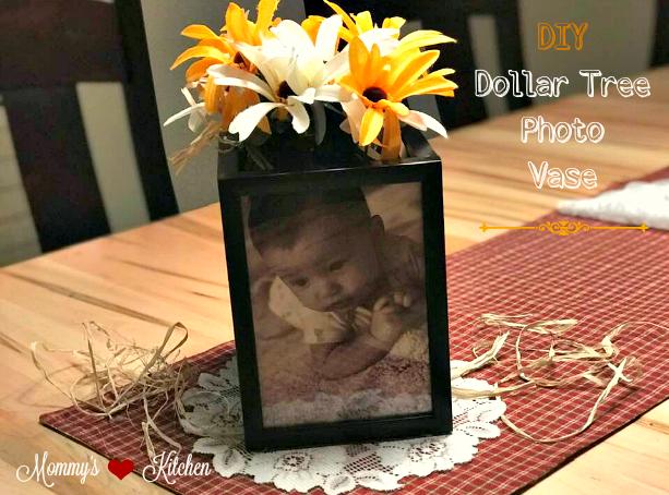 DIY Dollar Tree Photo Frame Vase