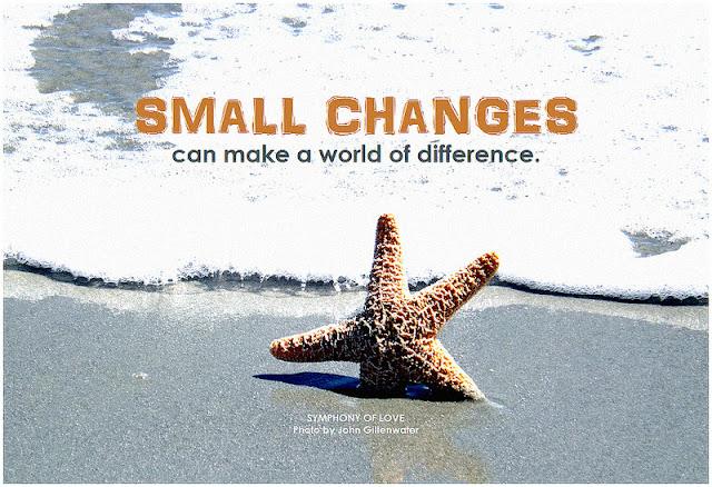 Los cambios pequeños pueden suponer una gran diferencia