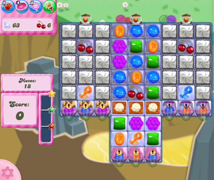 Candy Crush Saga level 2854