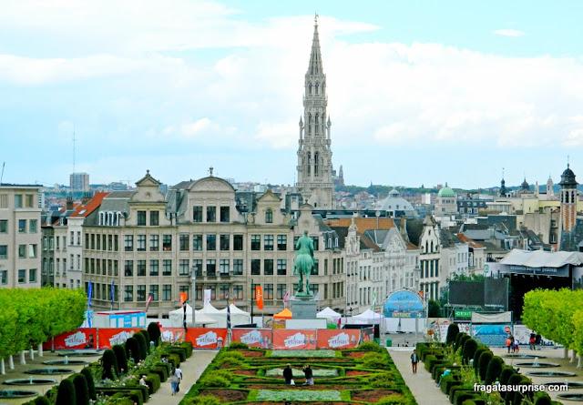 O Centro Histórico de Bruxelas visto do Kunstberg (Mont des Arts)