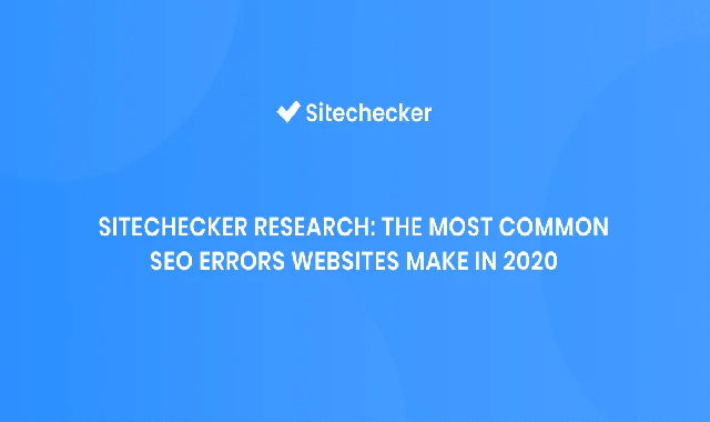The Most Common SEO Errors Websites Make in 2020 #infographic