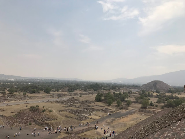 The extensive view of the Avenue of Dead the pyramid of Moon