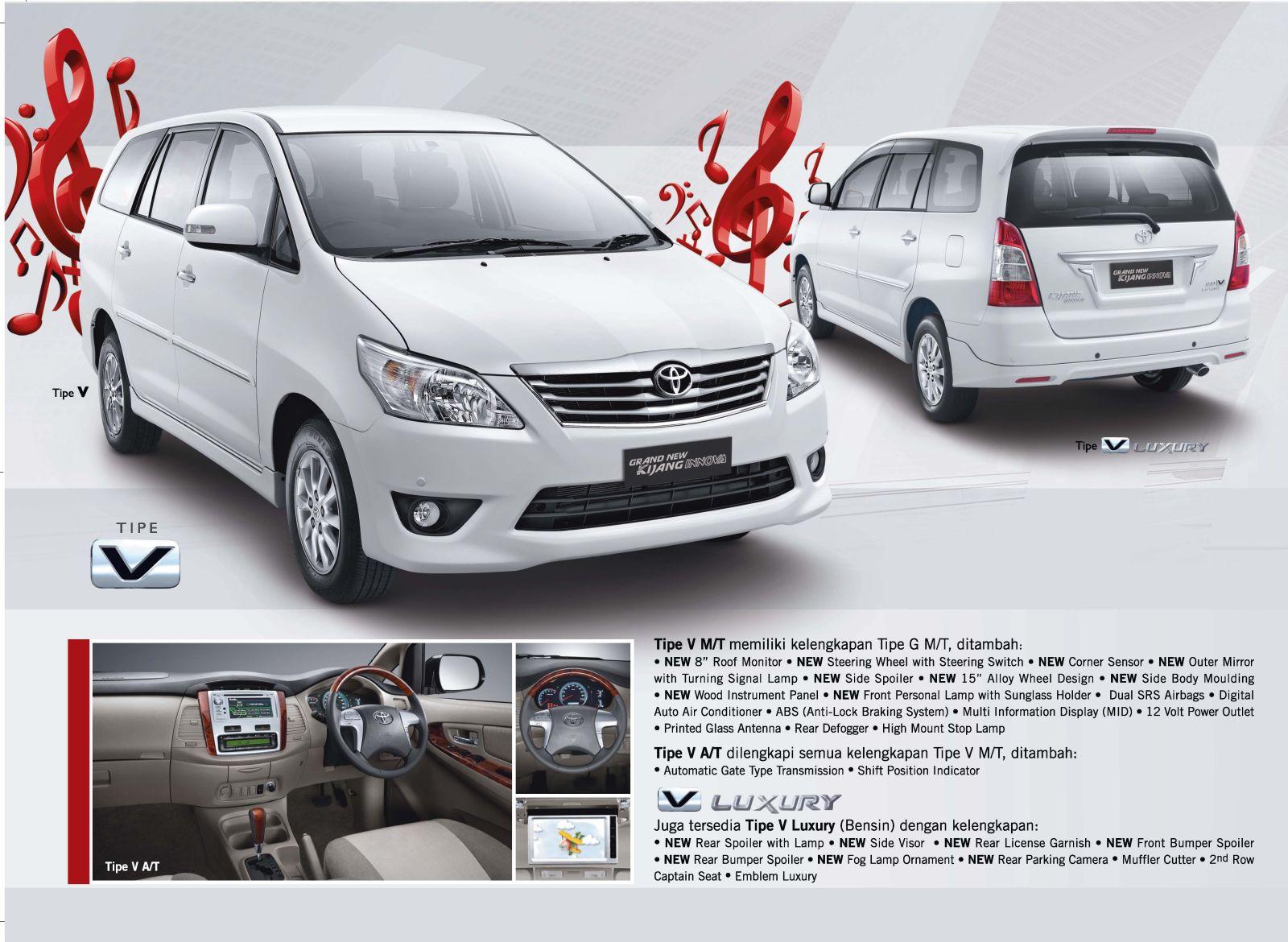 Grand New Kijang Innova Spesifikasi All Venturer Brosur Pesta Diskon Toyota