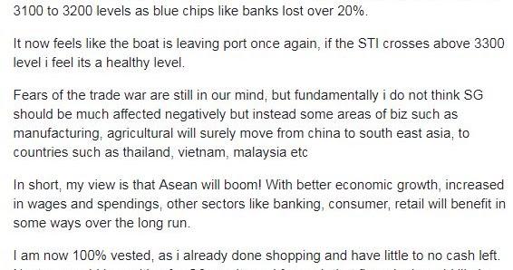 Master Leong's Investment Club: Market Quick Talk! Boat Has