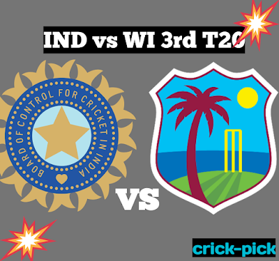 IND vs WI, Today Match Prediction, 3rd T20 Dec.2019
