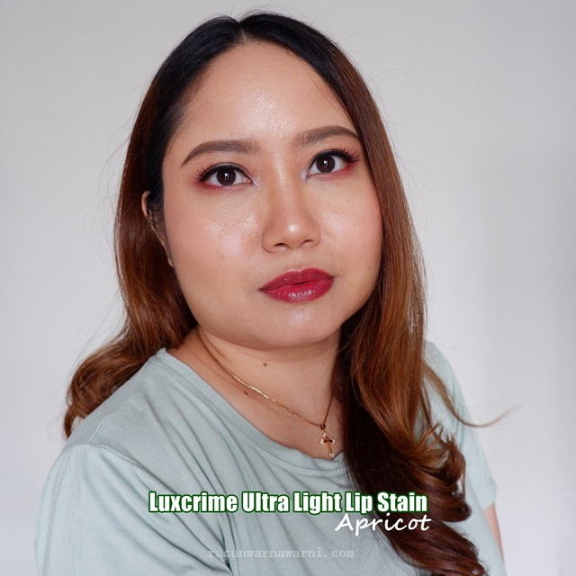 Swatch Luxcrime Ultra Light Lip Stain Apricot