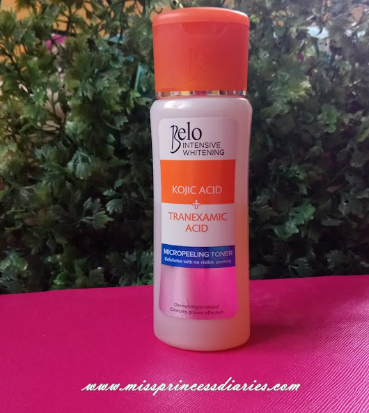 Exfoliates without visible peeling: Belo Intensive Toner - Miss Princess Diaries