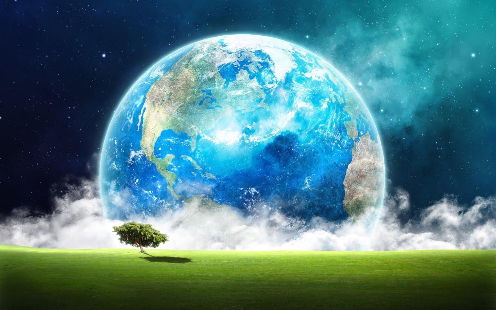 El Planeta Tierra Visto Desde Júpiter Fantasía Wallpaper Hd Ultra
