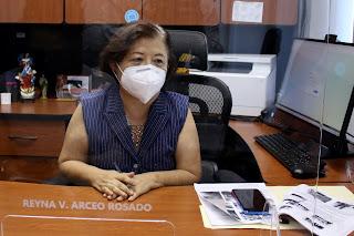La titular del área, Reyna Arceo Rosado