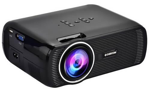 Everycom X7 LED Projector (Black)