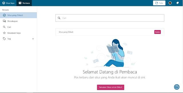 Jika setelah Sobat klik muncul halaman baru atau Dashboard blog seperti gambar berikut. Berarti Blog sudah berhasil di buat Sob.
