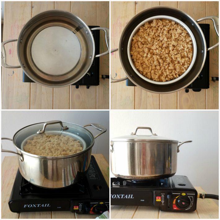 Cómo hornear bizcochos improvisando un horno en la estufa de la cocina