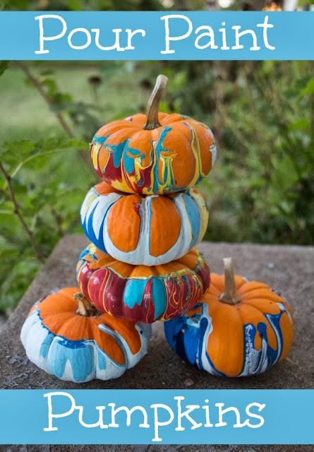 Pour Paint Pumpkins