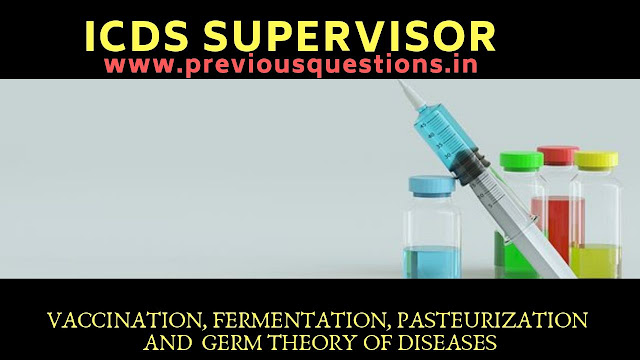 Vaccination,Fermentation, Pasteurization and  Germ theory of diseases
