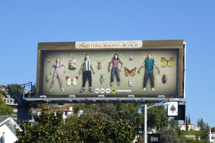 Everythings Gonna Be Okay launch billboard