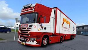 Scania Frank De Ridder truck + trailer