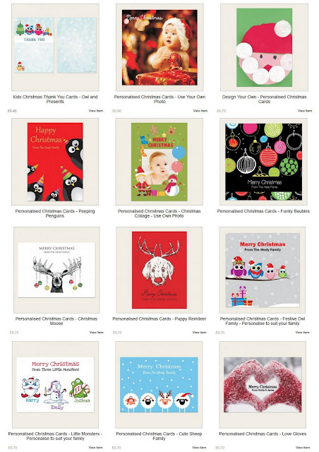 The Card Gallery Personalised Christmas Cards review (from 70p each)