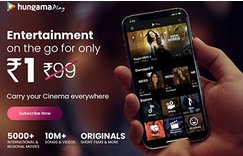 Hungama Music & Play One Month Premium Subscription At ₹1