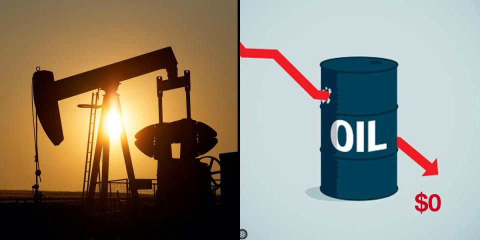 Oil price took a negative dive in the late hours of Monday April 20, as it plunged further to below $0 a barrel for the first time as the coronavirus pandemic lingers.