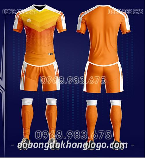 Áo bóng đá ko logo Zuka CV màu cam