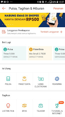menu paket data DI shopee