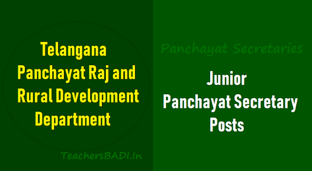 ts to fill 9355 junior panchayat secretary posts in panchayat raj department,junior panchayat secretary posts recruitment,panchayat secretaries recruitment