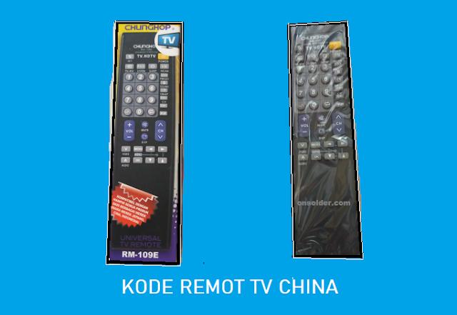Kode Remot tv China tabung Merk Niko, Votre, Multimax, TCL, Giatex
