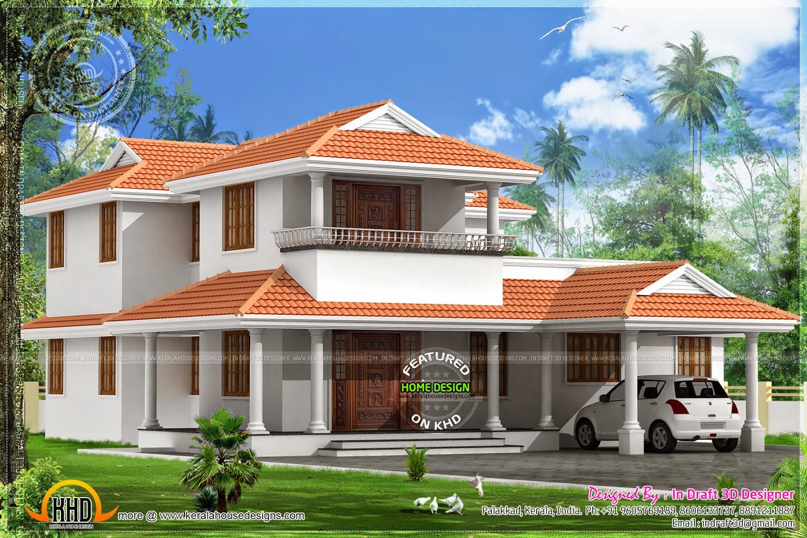 2574 square feet home exterior - Kerala home design and ...