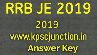 RRB JE Stage 1 Answer Key 2019 Released