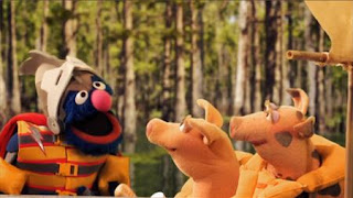Super Grover Up the Creek with a Paddle. Super Grover 2.0 saves two little piggies, Sesame Street Episode 4410 Firefly Show season 44