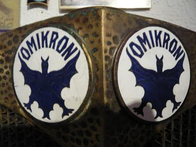 Omikron radiator emblem badge vintage