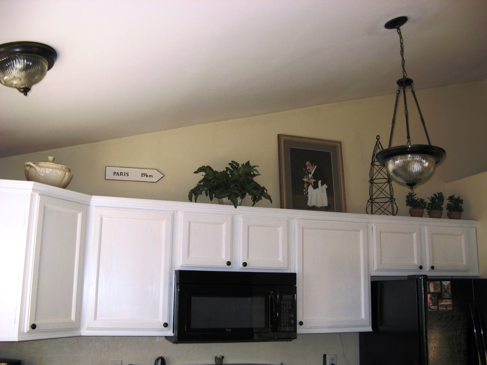 French Hollow Farm: conventional-kitchen - Over the Cabinets, Not Over the Top - Decorating Cupboard Tops