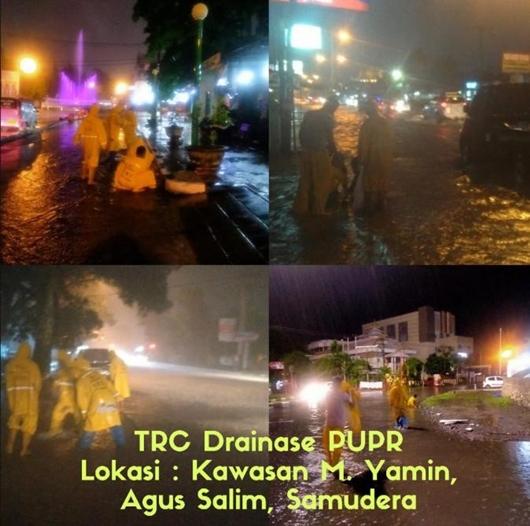 Curah Hujan Tinggi,Pemko Padang Turunkan TRC PUPR