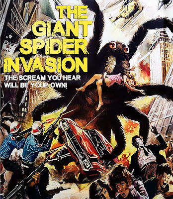 Cover art for Dark Force Entertainment's new Blu-ray of THE GIANT SPIDER INVASION!
