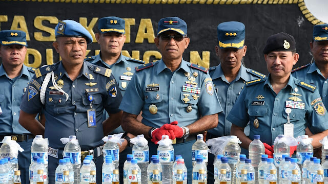 Miras 1,5 ton, di musnahkan LANTAMAL VIII Manado