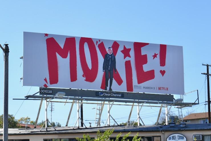 Moxie film billboard